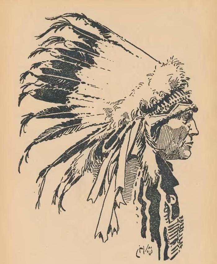 Slavný náčelník Siouxů Medvěd-Dutý Roh