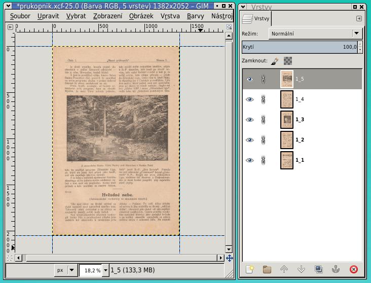 Výsledný XCF dokument po finálním ořezu