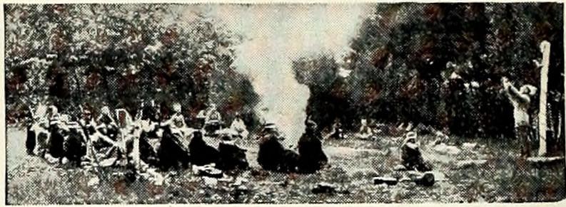 Woodcrafterský sněm v táboře Kinapik 1920