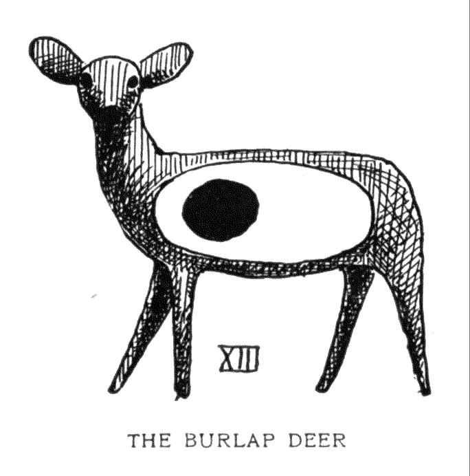 THE BURLAP DEER