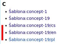 Výsledek kategorizace bez použité šablony translation