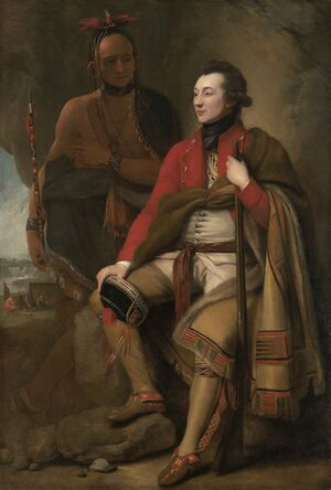 Karonghyontye a Guy Johnson 1776.jpg